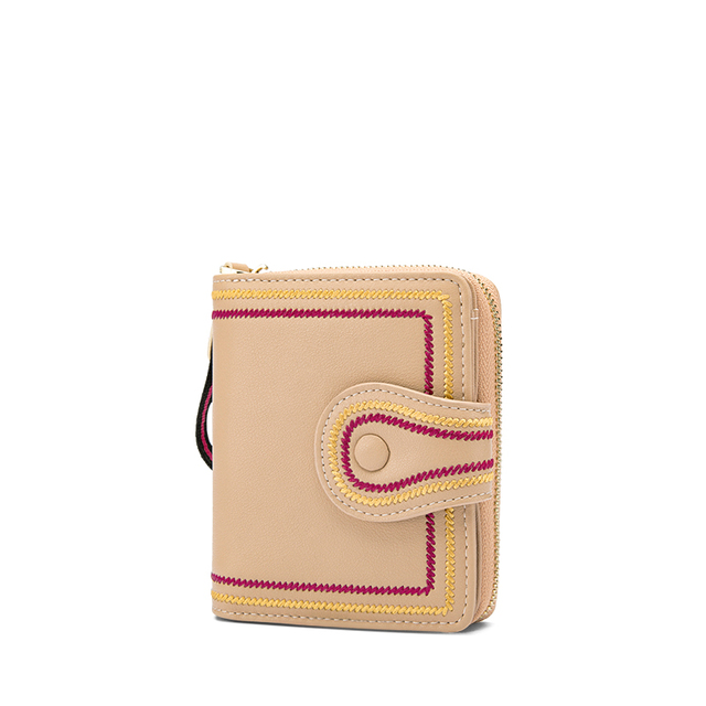 ZOOLER Women Leather Wallet Handmade Soft Leather Short Wallet Fringe Coin Purse Credit Card Holder Lady Colored Purses SD200