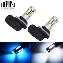 2 adet H27 881 H27W/2 yüksek güç LED araba ampülleri otomatik LED sis lambası DRL gündüz farı dış işıklar araç beyaz buz mavisi 12V