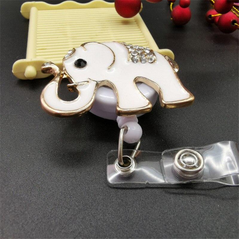 elefante flor decorado enfermeira id crachá titular
