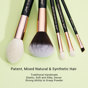 Image 2 - ג סאפ יופי 25pcs איפור מברשת סט טבעי שיער maquiagem מקצועי מלא קרן צלליות קונטור סימון T155