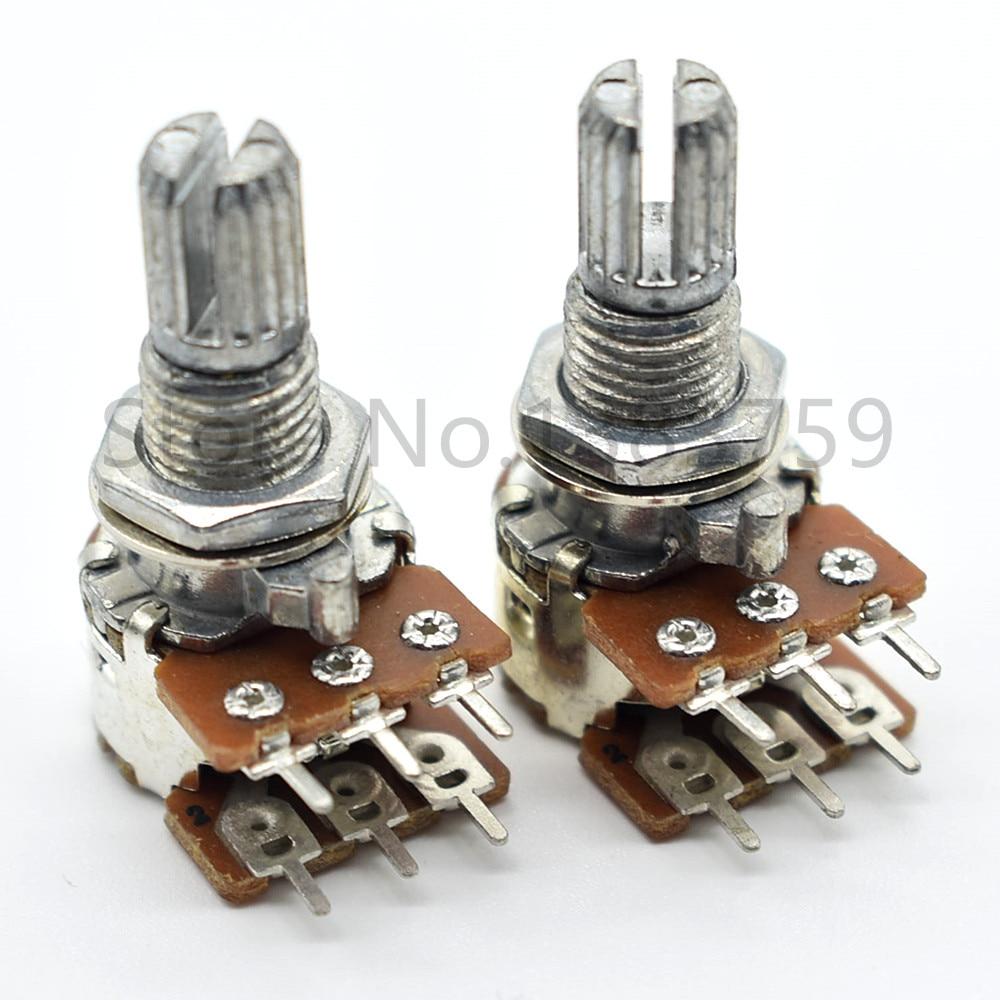 2 pces 12-tipo potenciômetro estéreo canal b50k flor punho 15mm volume potenciômetro ajustável som potenciômetro