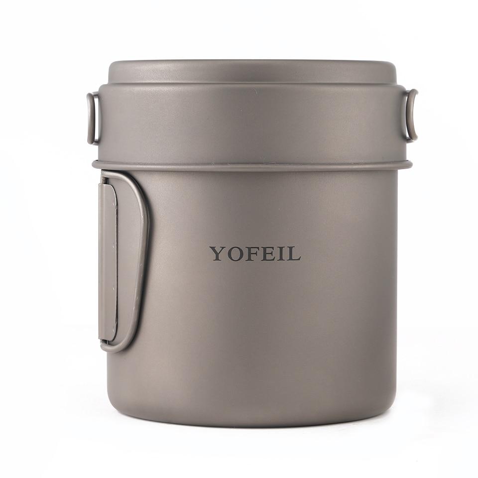 Кемпинг Открытый Титановая Посуда Титановый Горшок Открытый Горшок Посуда Туристические Туристические Принадлежности Кемпинг Кулинария