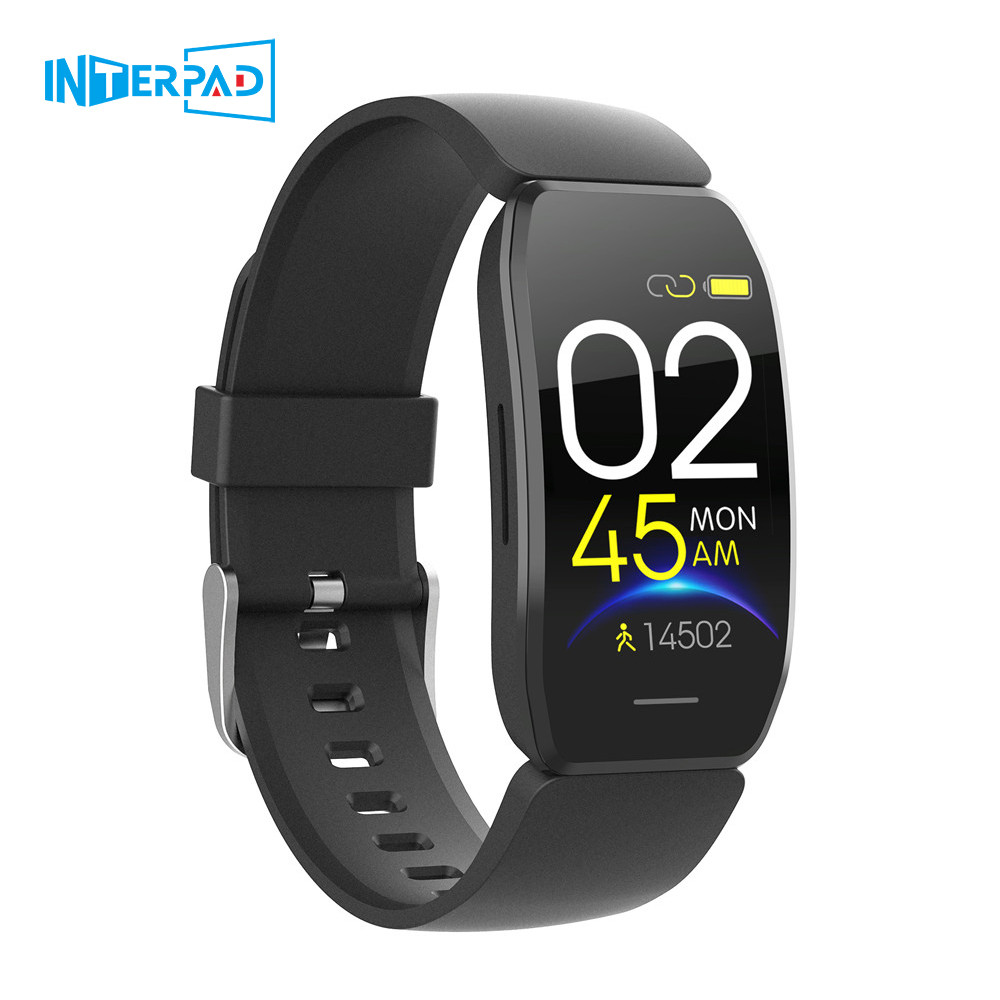 Interpad Men Women Smart Watch 1.44 Inch Touch Screen IP67 Waterproof Bluetooth Montre Connectée Smartwatch For Android iOS image