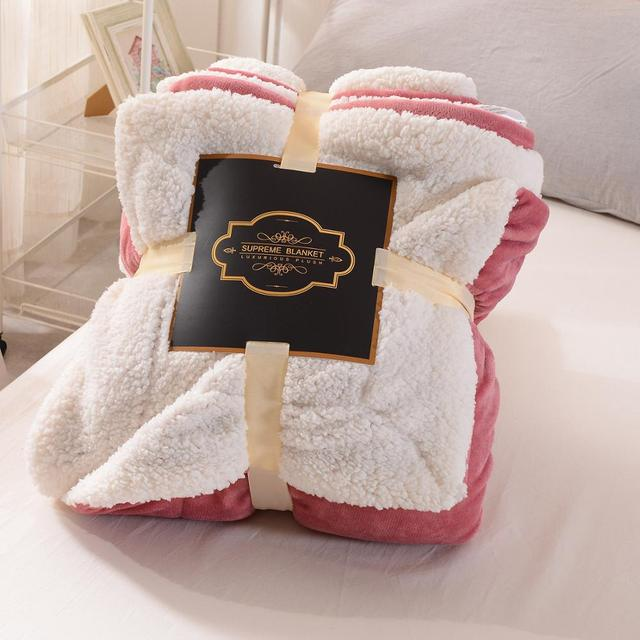 Warm Home Office Blanket Artificial Lambskin Blanket for Bed Siesta Air Conditioning Blanket