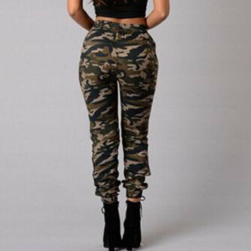 1pc Autumn Outdoor Camping Womens Camo Trousers Casual Hip-hop Military Army Combat Camouflage Pants S-2XL Plus size pants hot 4
