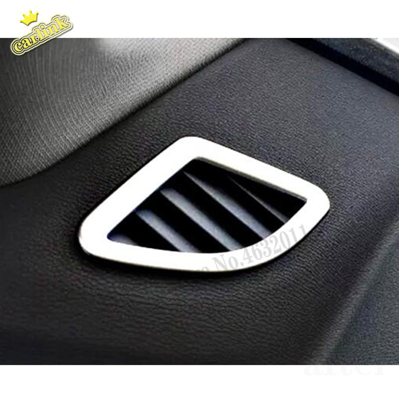 For <font><b>BMW</b></font> <font><b>X1</b></font> F48 2016 <font><b>2017</b></font> 2018 Stainless steel Car Small air outlet frame Decoration Cover Trim Styling Car <font><b>Accessories</b></font> 2pcs image