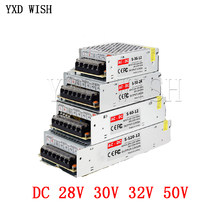 Transformateur d'éclairage AC110V-220V à DC 28V 30V 32V 50V Adaptateur D'alimentation 1A 2A 3A 4A 5A 10A 15A 20A LED Multiprise Interrupteur Conducteur