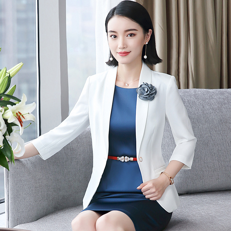 Formal Women Blazer Dresses with Jacket Women's Dress Suit Set Office Wear Work for Ladies Evening Elegant Costumes Plus Size OL
