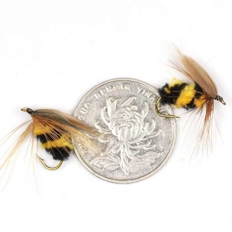 10 pcs/1 pc Artificiale Insetto Esca di Richiamo Bumble Bee Fly Trota Artificiale Esche Da Pesca 15 millimetri di Pesca All'aperto insetti Esche