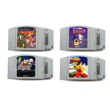 Ninja 64 bits avec 2 Banjo Tooie Kazooie ver de terre Jim 3 langue anglaise USA NTSC jeu de voiture