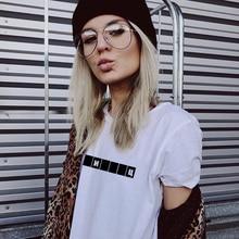 Graphic Tees Russian Fashion t-Shirt Camisetas Neck-Tops Letter Harajuku Female Casual