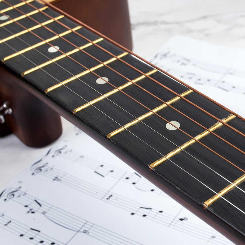 6 pièces En Cuivre Pur Cordes 1-6 pour Classique Guitare Cordes Fil D'acier Classique Guitare Folk Acoustique Pièces Accessoires