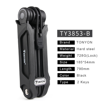 PAW Foldable Bike Lock 2 Keys Strong Security Anti-theft Bicycle Lock Heavy Duty Chain Cable Padlock Motorcycle Lock For Bicycle Ποδηλασία Χόμπι MSOW