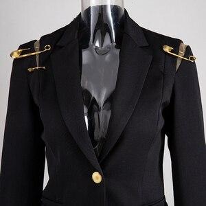 Image 3 - CHICEVER Blazer Nero Per Le Donne Con Intaglio Singolo Pulsante di Grandi Dimensioni Slim Casual Coreano Giacche Femminile 2020 di Nuovo Modo di Vestiti