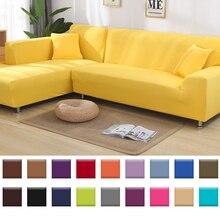 L şekli kanepe kılıfı düz renk kanepe kılıfı s köşe esneklik evrensel kanepe yastığı elastik kapak A45007