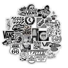 Vans Stickers Decal Suitcase Skateboard Scrapbooking Laptop Animal Black White 50PCS
