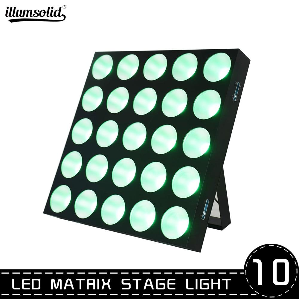 Led Stage Lights Beam Dmx 512 Matrix Light 25x10w Panel Led Stage Lights RGB Tricolor Matrix Panel 10pcs/lot