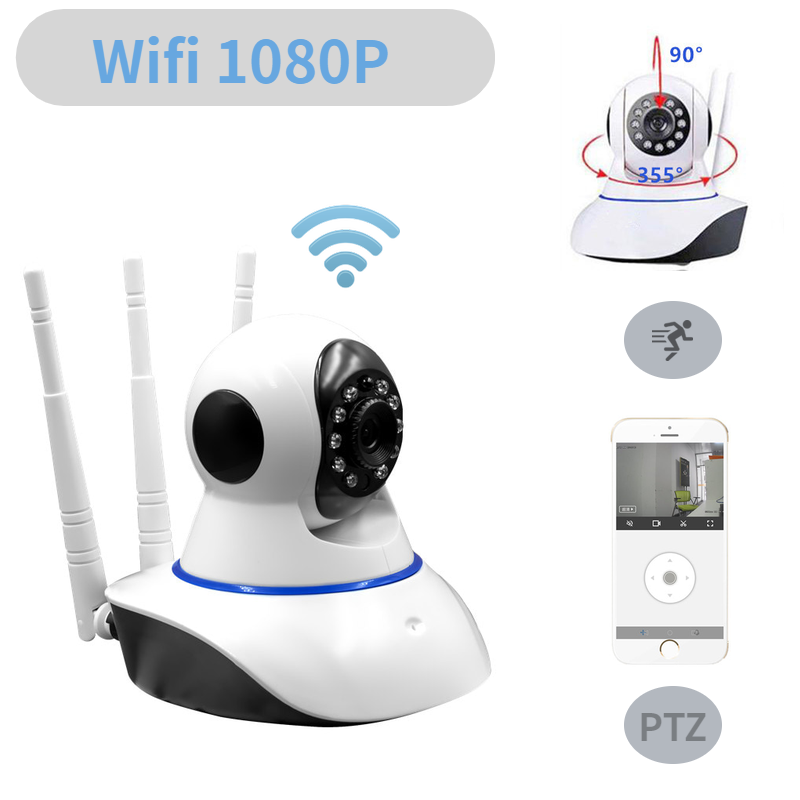 HD1080P Cloud Ip Camera Wifi Surveillance Camera Beveiliging Draadloze CCTV thuis Camera Ptz Camaras De Vigilancia Con Wifi P5070-in Beveiligingscamera´s van Veiligheid en bescherming op title=