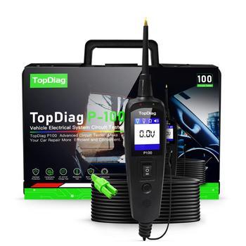 JDiag Power Pro P100 nowa generacja Tester obwodu elektrycznego dla samochodów samochody i ciężarówki tanie i dobre opinie CN (pochodzenie) P-100 3 9inch 10 6inch Testery elektryczne i przewody pomiarowe 1 3kg Support wide input voltage range from 9V to 70V
