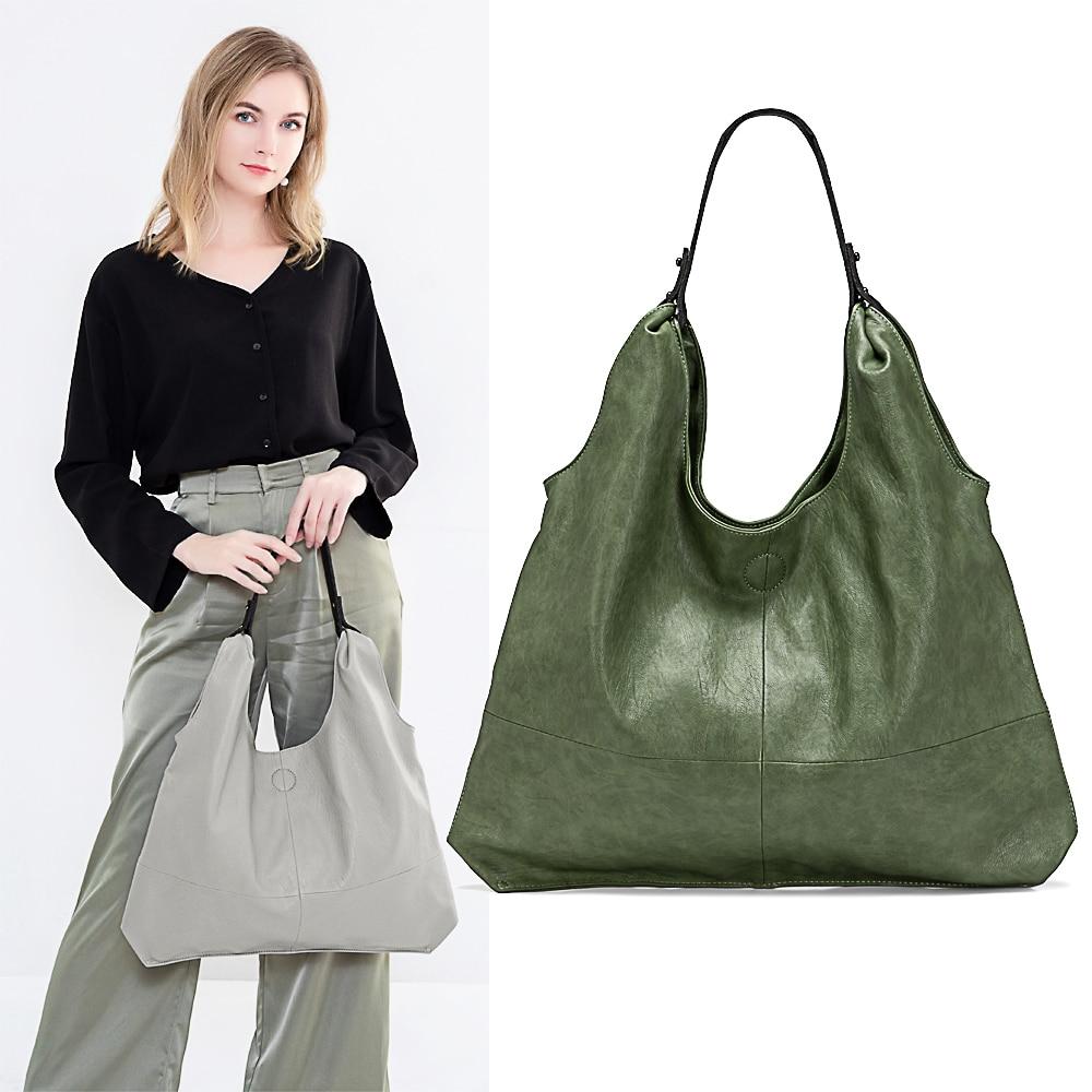 Women Handbags Totes Sheepskin-Leather Large-Capacity Soft