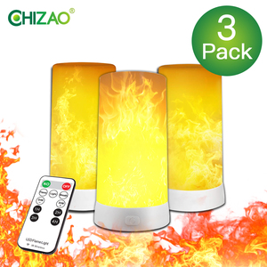 CHIZAO Flame Table Lamp with Magnegic Base 4 Modes Upside Down Effect Flame Lamp USB Rechargeable for Festival/Party Decoration