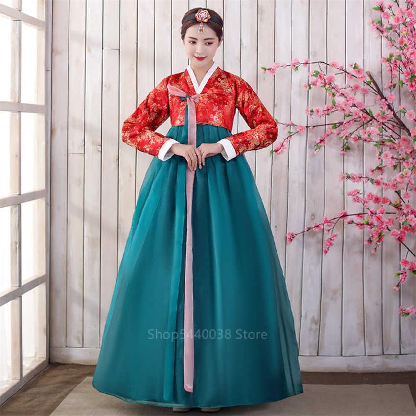 Hàn Quốc Hanbok Trang Phục Truyền Thống Dành Cho Nữ Thanh Lịch Hanbok Cung Điện Hàn Quốc Cưới Oriantal Vũ Trang Phục Quý Phái Hiệu Suất Đảng