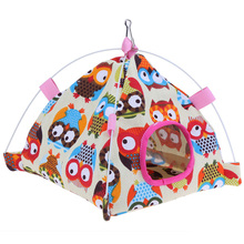 1pc Pet Bird Parrot Cage House Tent Shape Cloth Cartoon Foldable Nest Bed Cave For Products 2 Styles