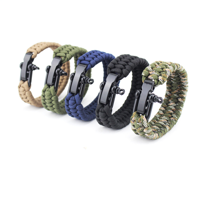 Outdoor Survival EDC Multi Tool Tactical Molle Gear Bracelet Survival Kit For Outdoor Emergency Survival SOS Bracelets