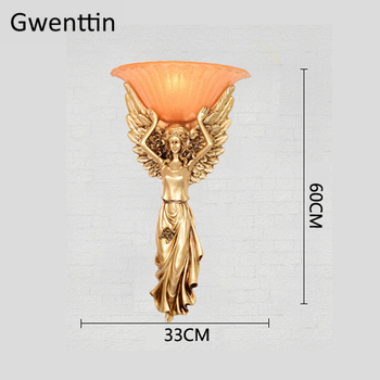 Angel Wall Lights For Home Art Decor Wall Sconces Bedroom Lamp Living Room Stairs LED Wall Lamps Light Fixtures Loft Luminarias