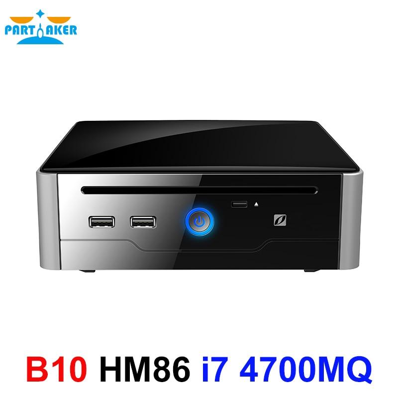 Partaker HTPC Dual Display DVI HDMI Intel Core I7 4700MQ Processor Mini PC Linux I7 USB3.0 COM