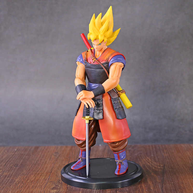 Dragon ball z samurai guerreiro son goku figura pvc estatueta collectible modelo de brinquedo