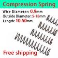 Pressure Spring Compressed Spring Return Spring Release Spring Spot Goods Wire Diameter 0.9mm, Outer Diameter 5-18mm