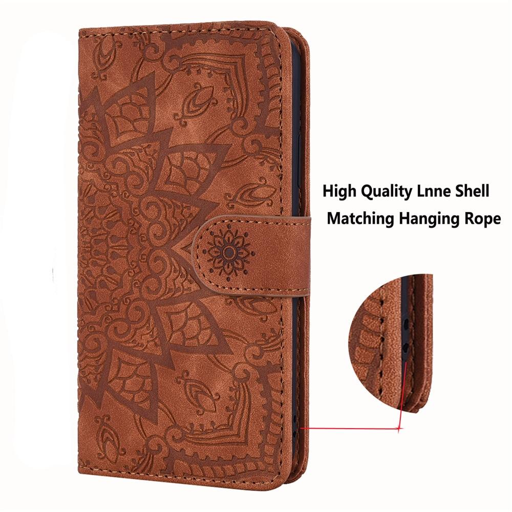 Heda704ff959a465094fd72b5e5fe814aj Matte Leather Phone Case For Samsung Galaxy A50 A70 A30 A40 A20 A10 A10E A20E A10S A20S A30S A50S Flip 3D Mandala Book Case