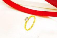 Creative minimalist zircon ladies ring Stylish temperament gold-plated dance party birthday gift