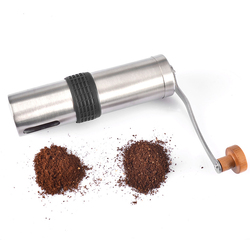304 młynek do kawy ze stali nierdzewnej instrukcja Cafe szlifierka ręczna burr mill filtr ceramiczny kukurydza przenośne narzędzie kuchenne