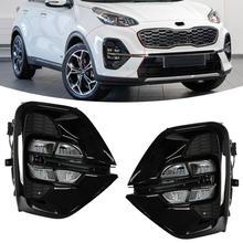 مجموعة مصابيح الضباب OEM KX5 KIA Sportage 2020 ، مجموعة مصابيح السيارة ، ضوء النهار LED ، القيادة ، الملحقات ، النوع الأمريكي وروسيا