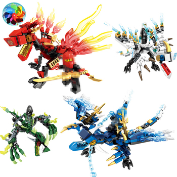 Ninja Dragon Knight Swordsman Model ninjagoods  KAI JAY ZANE Figures Building Blocks kids Toys Bricks gift for children boys