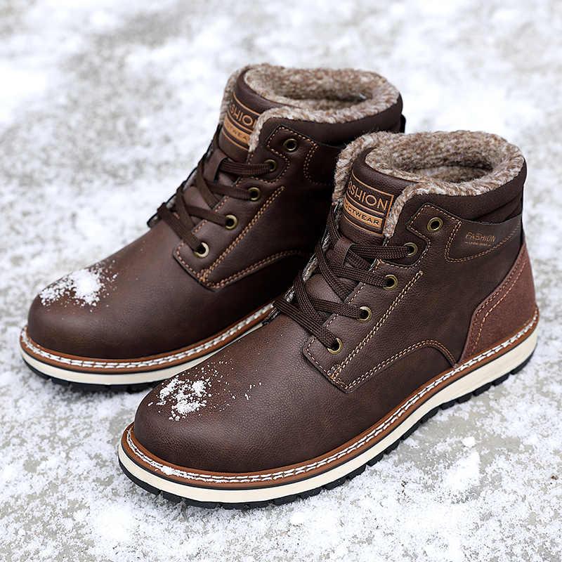 UEXIA Merk NIEUWE Mode Winter Bont Avondmaal Warm Pluche Snowboots Mannen Volwassen Mannelijke Schoenen Non Slip Rubber Casual botas enkel Schoeisel