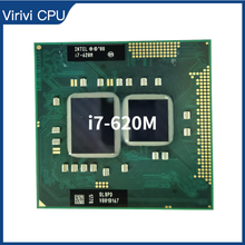 Intel Core I7 620M I7 620M SLBTQ SLBPD 2.6 GHz Dual Core Quad ด้าย CPU โปรเซสเซอร์4W 35W ซ็อกเก็ต G1/RPGA988A