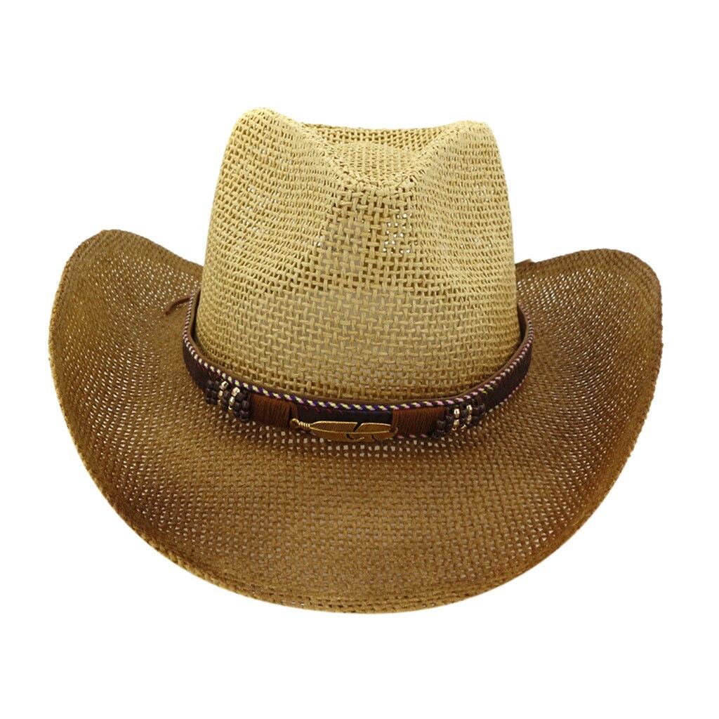SAGACE  Casual Spray Cowboy Straw Hat Big Sun Hat Newly Women Lady  Straw Hat Beach  Wide Brim Cap Breathable  Fashion