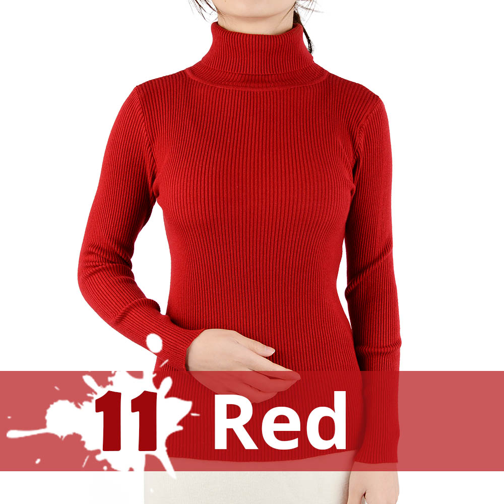 2021 Autumn Winter Thick Sweater Women Knitted Ribbed Pullover Sweater Long Sleeve Turtleneck Slim Jumper Soft Warm Pull Femme 14