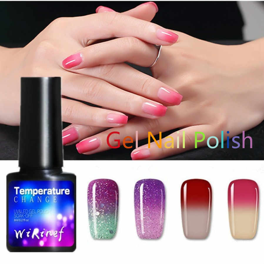 Fashion 28 Kleuren Nagellak 8 Ml Temperatuurverandering Kleur Uv Gel Semi Permanente Gel Nagellak Meisje Sexy Nail decoratie Tool