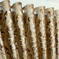 Роскошные европейские занавески для гостиной  бархатные занавески  прозрачные  с золотым принтом  высокая затенение  занавески для столово...