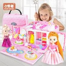 Puppe Haus hand tasche zubehör nette Möbel Miniatur Puppenhaus Geburtstag Geschenk hause Modell spielzeug haus puppe Spielzeug für Kinder