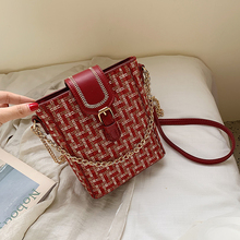 Women Crossbody Bag New Chain Leather Fashion Korean Style Messenger Shoulder Ladies Small