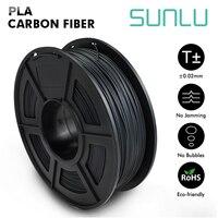 SUNLU Carbon Filament Metal Texture 3D Printing Material 1.75mm 1KG PLA Carbon Fiber Filament For 3d Printer
