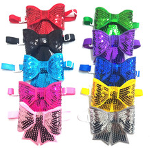 30/50pcs Cute Sequins Shining Pet Puppy Dog Cat Bow Ties Adjustable Bowties for Small&Medium Dog Accessories Pet Products