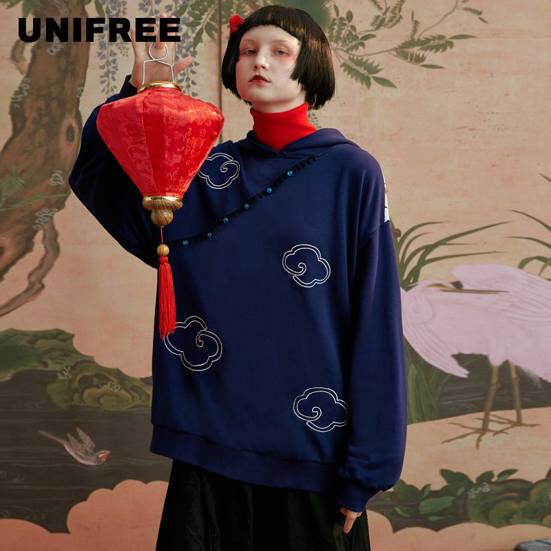 UNIFREE Loose Korean Tide Ins Lazy Wind Bf Wei Yi Spring Coat Women 2020 New U194A733TT