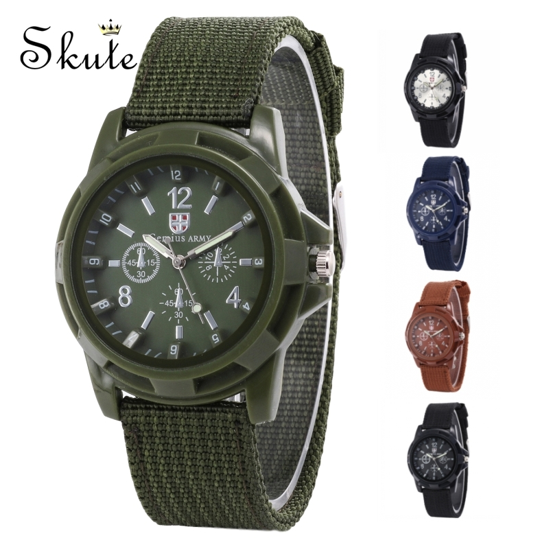 Skute Fashion Military Sports Canvas Strap Watch Casual Wristwatch Men Army Watch Outdoor Quartz Watch Clock Relogio Masculino