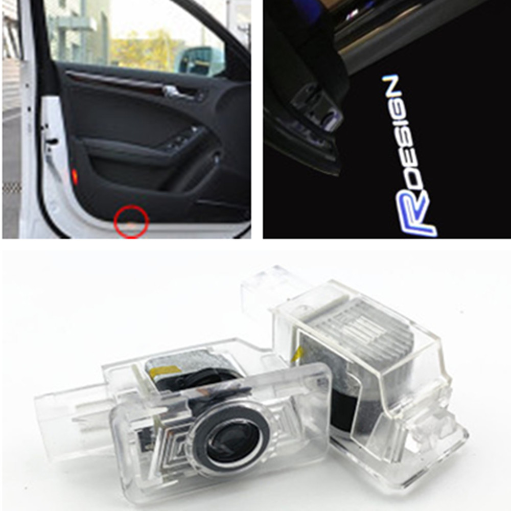2PCS LED Car Door Welcome Lamp Laser Logo Projector Light for <font><b>VOLVO</b></font> S80 60 S60 S80L S60L V60 V40 <font><b>XC60</b></font> XC90 Car <font><b>accessories</b></font> image